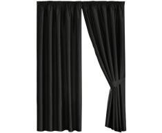 Dreams N Drapes Java - Cortina forrada (228 x 228 cm), color negro