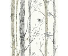 RoomMates rmk9047wp Adhesivo Papel Pintado Adhesiva árboles abedules fácil de Mesa extraíble reposicionable Reutilizable 1 Rollo 5,03 x 0,52 m Vinilo 55 x 17 x 8,5 cm