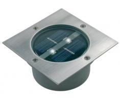 Ranex 5000.198 Carlo Foco exterior cuadrado, Energía solar, Sensor de día noche