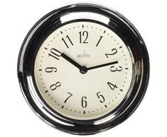Acctim 21737 Riva Reloj de pared, cromado