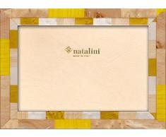 Natalini Nice GialloPC 13X18 Marco de Fotos con Soporte para Mesa, Madera, Amarillo, 13 X 18 X 1,5