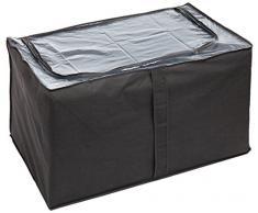 Wenko 4380711100 Jumbo-Box Libertà - Caja para almacenaje de tejido transpirable (91 x 48 x 53 cm), color gris