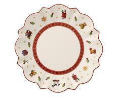 Villeroy & Boch 14-8585-2662 Plato para Pan, Toys Delight, para Navidad, 17 cm, Porcelana, Blanco, 18.5x18.0x7.5 cm