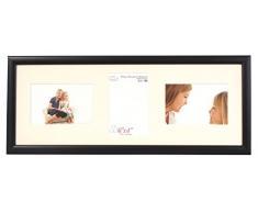 Inov8 - Marco de fotos con triple apertura (15,2 x 10,2 cm, 2 unidades), color negro