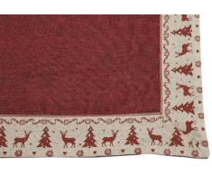 Brauns Heitmann 82745 - Mantel (80 x 80 cm), diseño de Navidad, color rojo
