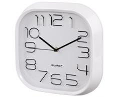 Hama PG-280 Quartz wall clock Plaza Color blanco - Reloj de pared (AA, Color blanco, De plástico, Vidrio, 280 mm, 46 mm)