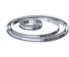 De Buyer 3093.28 - Molde redondo para tarta (bordes curvados, perforado, 28 cm)