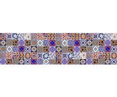 VINILIKO Baldosines Alfombra de Vinilo, Multicolor, 80x300