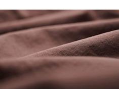 L1NK STUDIO Funda nordica Cama 105cm Lisa (180x220cm) 100% algodón (Percal 200 Hilos) Teja