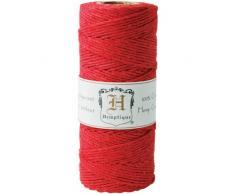 Hemptique hc20co Red - Cordel para jardinería, Color Rojo