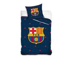 FCB FC Barcelona Juego de Cama, algodón, Azul Marino, 27x 39x 4cm