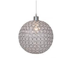 Lucide AYLA E27 Plata, Transparente iluminación de techo - Lámpara (Dormitorio, Cocina, Salón, Plata, Transparente, Empotrada, Metal, I, Moderno)