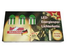 Hellum 811537 - Guirnalda de velas con luz led de bajo consumo (para uso en interiores, luz blanca cálida, 15 piezas, 12,8 m)