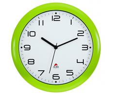Alba Hornew V - Reloj de pared (mecanismo de cuarzo silencioso, 30 x 5,5 x 30 cm), color verde