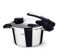 Fissler vitavit edition design / Olla a presión (4,5 litros, Ø 22 cm) de acero inoxidable, 2 niveles de cocción, apta para cocinas de inducción, gas, vitrocerámica y eléctricas
