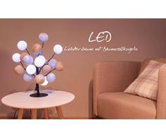 Illuminate Your Home LED Árbol Ambiance con Bolas de algodón, Interior – Árbol de luz