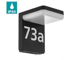 EGLO 98091 iluminación de pared Adecuado para uso en exteriores Negro E27 11 W - Lámpara (Cepillado, 1 bombilla(s), 11 W, E27, 3000 K, Negro)