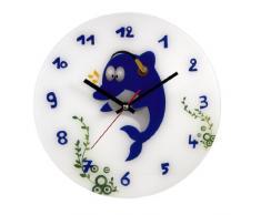 Hama 00106934 Delfin - Reloj de pared infantil con diseño de delfín