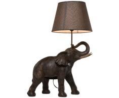 KARE Design Kare Lámpara de Mesa, Elephant Safari, Gris, 73.5 x 33 x 52.3 cm