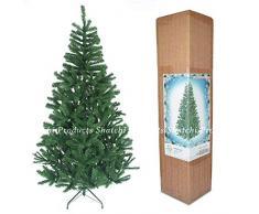 SHATCHI Festivo de árbol de Navidad Artificial de 1,5 m con 100 Luces Transparentes de Hadas