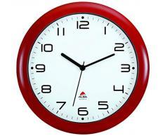 Alba Hornew V - Reloj de pared (mecanismo de cuarzo silencioso, 30 x 5,5 x 30 cm), color rojo