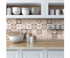 Ambiance-sticker Pegatinas de Azulejos Adhesivas - Adhesivo de Azulejos de Cemento - Decoración de Pared para baño y Cocina - 20 x 20 cm - 9 Piezas