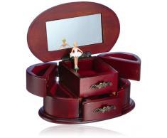 Musicboxworld 16086 - joyero de mujer, 20 cm