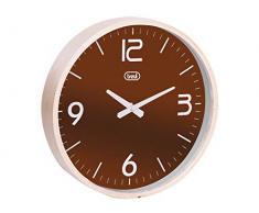 Trevi OM 3311 L Mechanical wall clock Círculo Marrón - Reloj de pared (AA, Marrón, Madera, 25 cm, 270 x 50 x 270 mm)