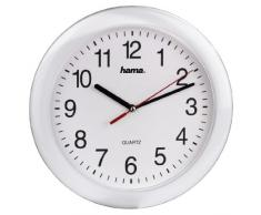 Hama PP-250 - Reloj de pared, color blanco