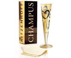 RITZENHOFF 1070190 - Copa de champán con diseño de Corazones