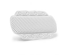 Relaxdays - Almohada para Cuarto de baño, 8 ventosas Antideslizantes, 20 x 31 x 5 cm, Blanco