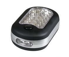 Emos 24+3 LED - Linterna (AAA, 36 h, Negro, De plástico, 97 mm, 62 mm)