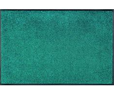 Wash&Dry Peacock Green Felpudo, acrílico, Multicolor, 60.0x90.0x0.7 cm