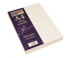 Wedding Inspiration Craft UK – Material de papelería, A4, cartón, Tarjeta Blanca de 300 g/m², 29.6 x 21 x 0.1 cm