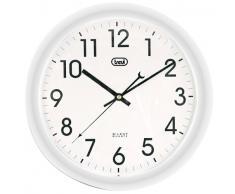 Trevi OM 3308 Quartz wall clock Círculo Color blanco - Reloj de pared (AA, Color blanco, 30 cm)