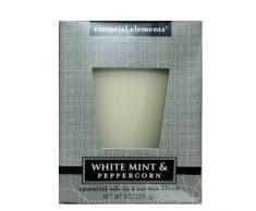Candle Lite - Tarro con vela de aceites esenciales (255 ml, aroma de menta y pimienta)