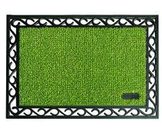 AstroTurf Utopia Mamut Felpudo Alfombra de Entrada Exterior, 60 x 90 cm, Color Verde Manzana, Goma & Polietileno, 90x60x1 cm