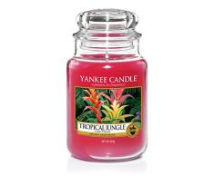 Yankee Candle Ltd Tropical Jungle tarro de cristal, rosa, 10,7 x 10,7 x 16,8 cm