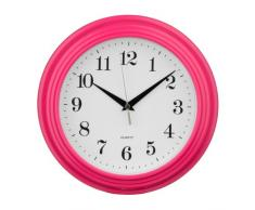 Premier Housewares 2200698 - Reloj de pared, color rosa
