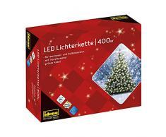 Idena guirnalda de bombillas LED 400-unidades, para exteriores, longitud 47,90 m, luz blanca cálida 31123
