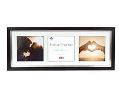 Inov8 21 x 20,32 cm Insta-Frame Marco para Instagram 3/de estampado a cuadros de fotos con paspartú blanco y blanco con borde, negro y