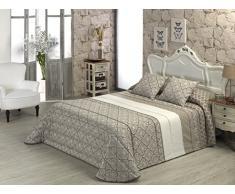 Glam Fula - Ropa de cama, color tabaco, 240 x 280 cm
