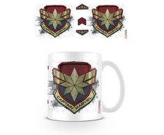 Captain Marvel Taza de cerámica mg25423 315 ml/11oz Badge