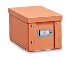 Zeller 17855 Caja de almacenaje de cartón Naranja (Apricot) 16.5 x 28 x 15 cm