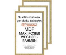 Empire Merchandising 540065 394699 - Marco para pósteres (3 unidades, 61 x 91,5 cm, tablero DM, dimensiones exteriores 96,4 x 65,8 cm), color blanco