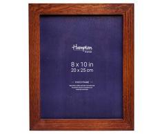 Hampton Frames - Marco de Fotos, Madera, marrón, 8x10 (20x25cm)