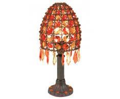 Näve 395598 Bella - Lámpara de mesa con adornos (35 cm), color naranja