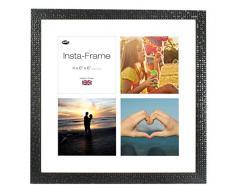 Inov8 16 x 40,64 cm Insta-Frame Marco para Instagram 4/de estampado a cuadros de fotos con paspartú blanco y blanco con borde, Mosaic negro