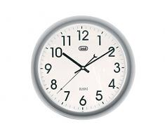 Trevi OM 3308 - Reloj de pared (AA, Gris, Color blanco, 300 mm)