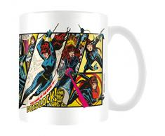Marvel MG23440 8 x 11,5 x 9,5 cm Retro dedic Paneles Taza de cerámica, Multi-Color